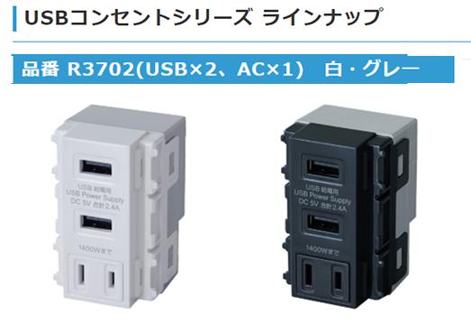 AC一体型埋込USB給電用コンセントを発売いたしました
